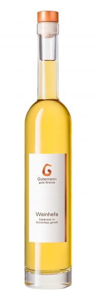 Weinhefe Edelbrand im Holzfass 40% 0,5l Gutemann