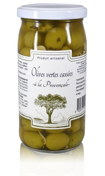 Grüne Oliven provenzialische Art CARLANT 200 gr.