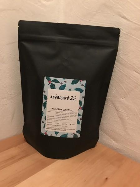 Weckruf von Lebensart22 - Espresso ganze Bohnen 1000 gr