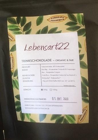 Trinkschokolade 42% Kakaoanteil 350 gr