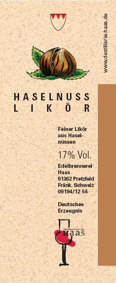 Haselnuss Likör 0,5l 20% Vol.