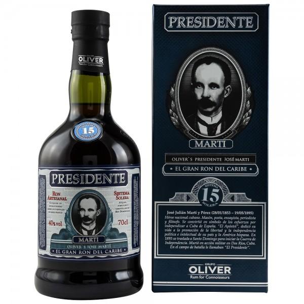 Presidente Marti 15 Años Solera 40% Vol. 0,7l