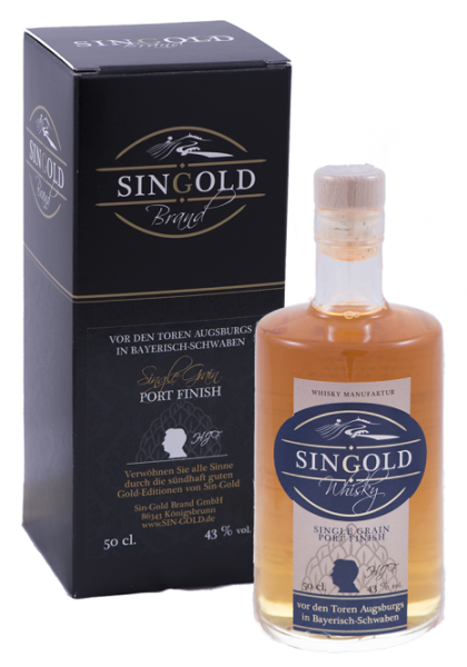 Sin Gold Single Malt Whisky Sherry Finish 46% 0,5l