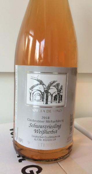 Cleebronner Michaelsberg Schwarzriesling Weißherbst mild 1,0l 2018