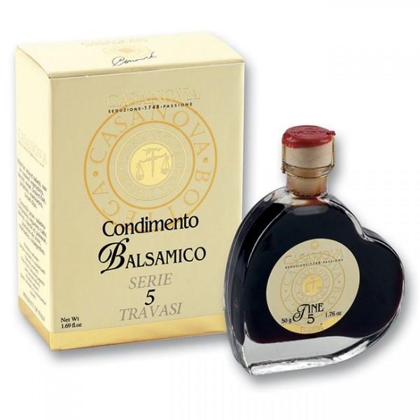Condimento Balsamico 4 Jahre - Herzflasche 50ml