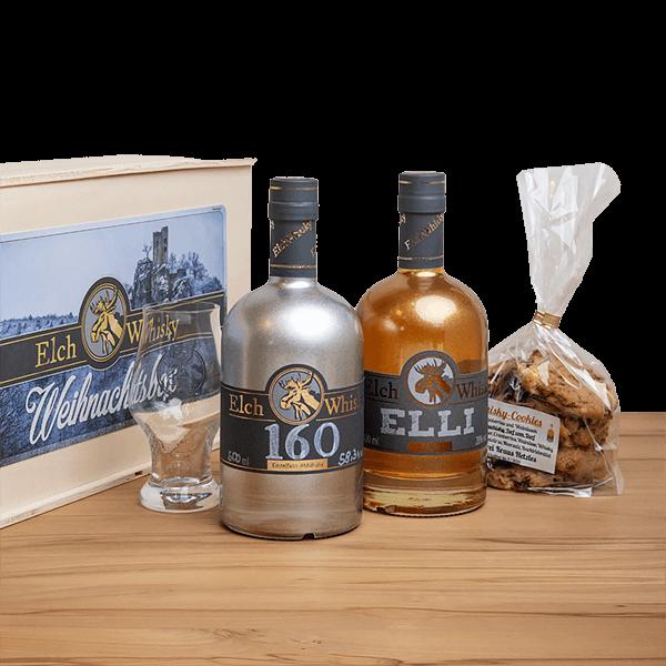 Elch Whisky Weihnachtsbox