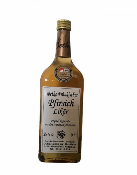 Betke Fränkischer Pfirsich Likör 0,7l 25% Vol.